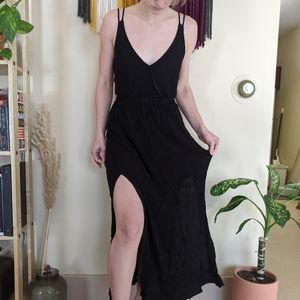 Lulus Backless Black Maxi